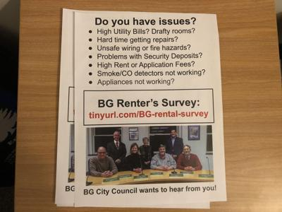 BG Renter's Survey Handout - Photo by Hunter Huffman