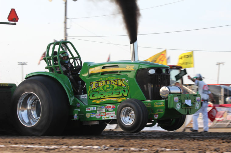 Souped Up Tractor : Th annual tractor pull draws local state crowd city