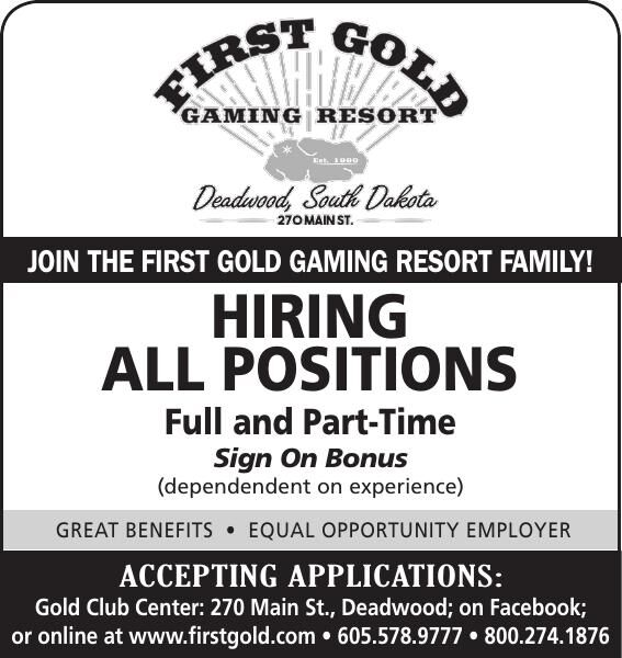 First Gold Now Hiring