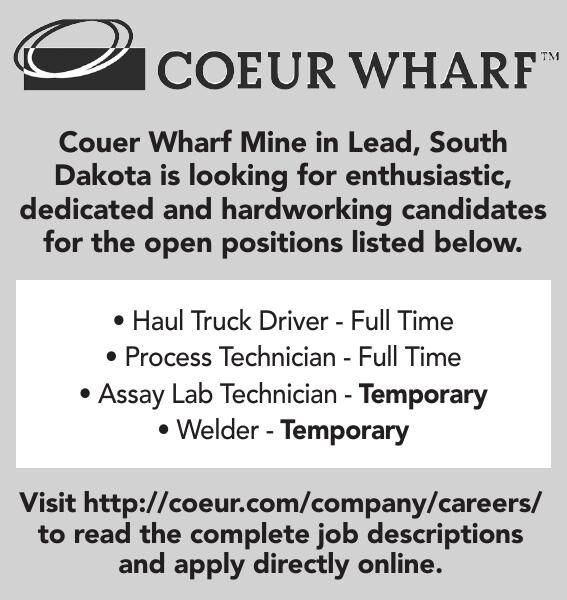 Couer Wharf Mine Open Positions