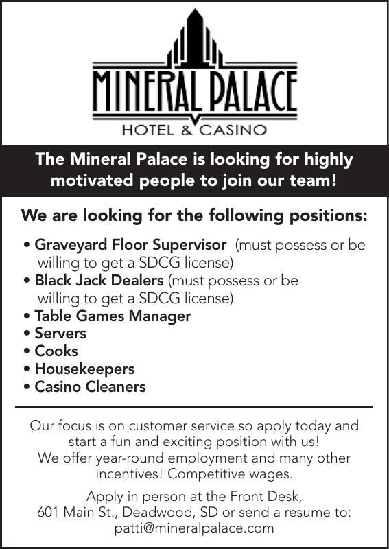 Mineral Palace Open Positions