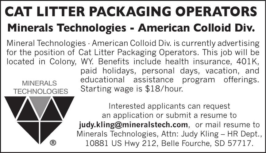 Cat Litter Packaging Operators