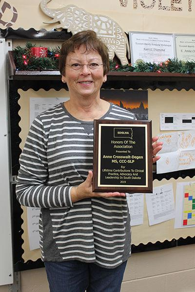Belle Fourche speech language pathologist honored with statewide award