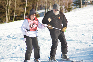 Ski for Light a blind leap of faith for one participant