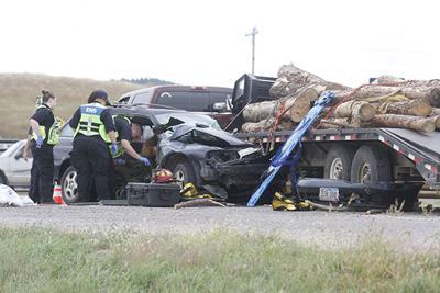 Two-vehicle crash injures one