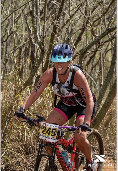 Mary Storgaard, of Sturgis, competes at X-terra World Championships