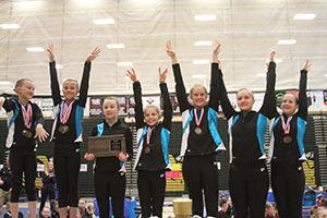 Three Spearfish gymnastics teams win state titles