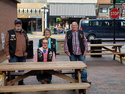 Lead-Deadwood Area Lions Club constructs picnic tables