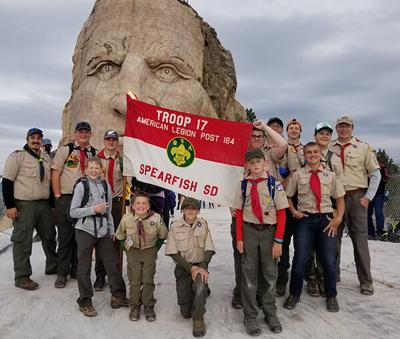 Spearfish Boy Scouts hike Crazy Horse