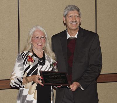 Cline awarded at DOT dinner in her honor