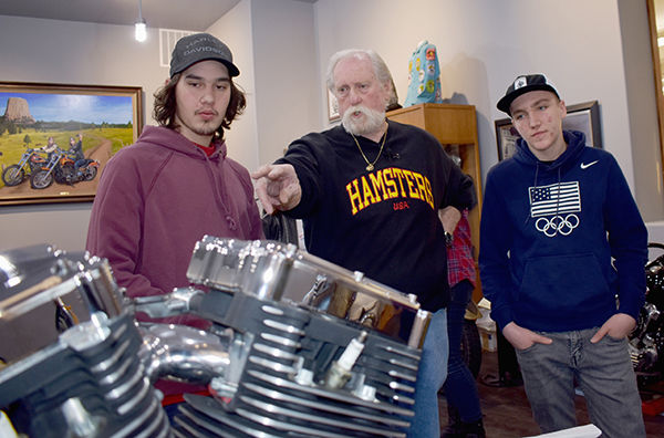 Student built motorcycle to go on auction block