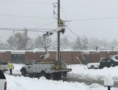 BHE, Butte Electric crews keep busy with storm