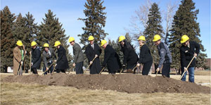Ground breaking for new residence hall
