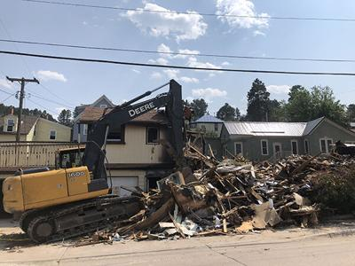 Officials halt cleanup from July 10 fire