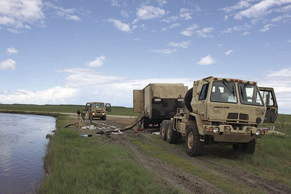 Golden Coyote operations taking place at Belle Fourche Reservoir