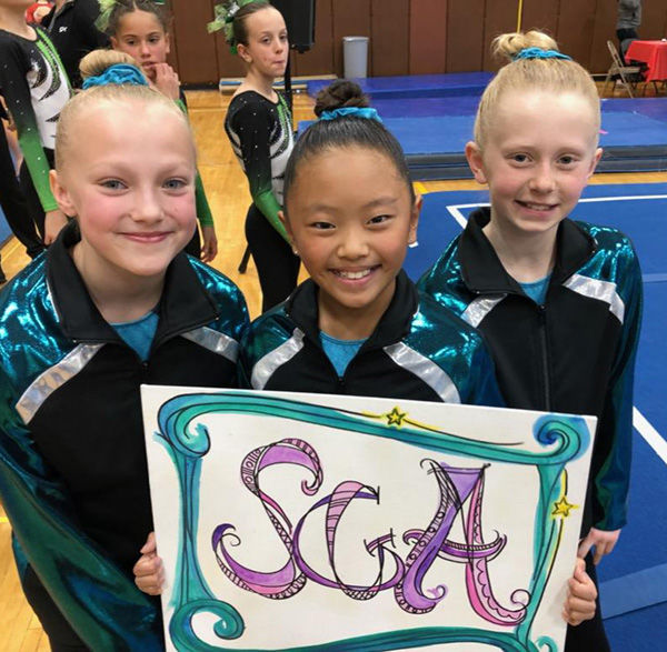 Spearfish gymnasts compete in Wyoming