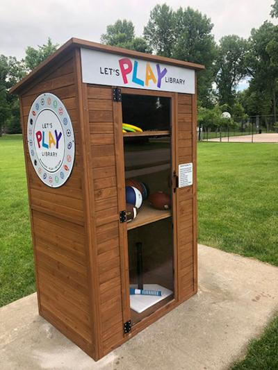 Let's Play Library installed in Spearfish City Park