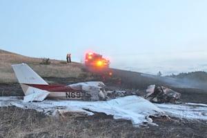 Plane crash ignites grass fire outside Spearfish