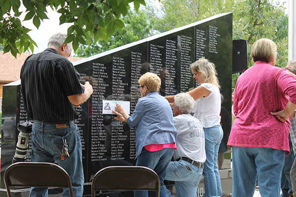 2nd veterans monument wall unveiled, dedicated Saturday