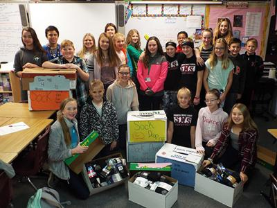 SMS collects socks for veterans