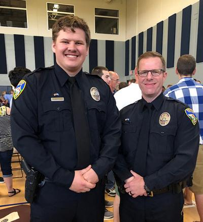 Two Spearfish officers graduate from basic training