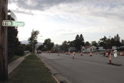 Traffic switches and intersection closures from Main Street to 11th Street