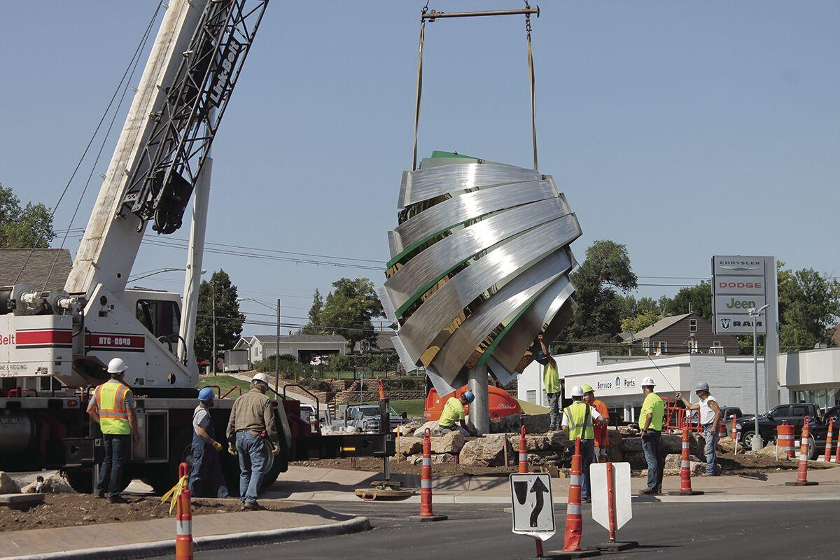 'The Hive' sculpture lands in Spearfish roundabout