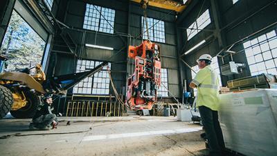 Rigging underground construction