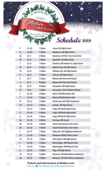 Magical Medora Christmas tour back for fifth year