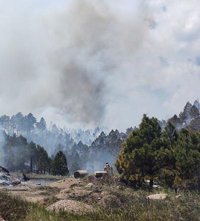 Wildfire sparks in Custer State Park