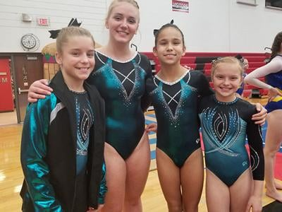 Spearfish gymnasts compete in Brookings