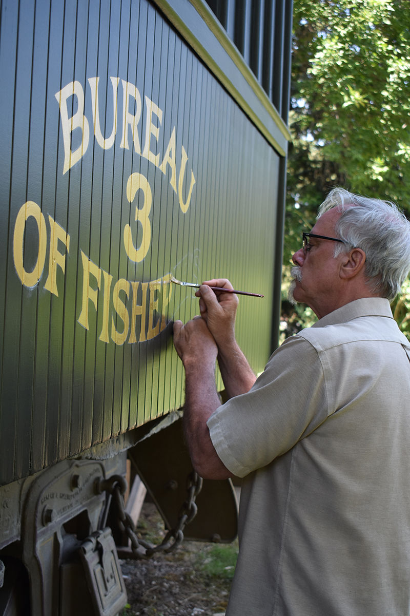 Original artist working to restore D.C. Booth fish car