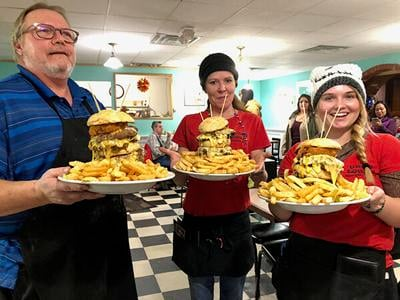 Burger eating challenge Saturday at Uncle Louie's Diner
