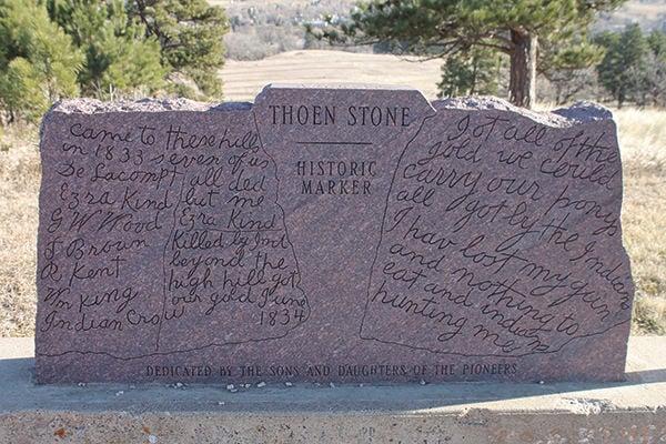 Public access to Thoen Stone under debate