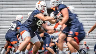 Illinois football practice