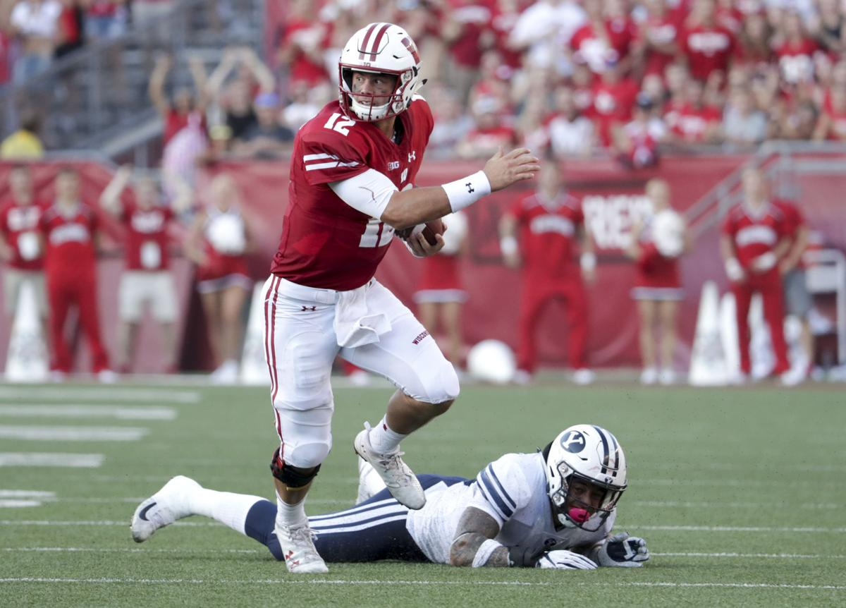 Alex Hornibrook BYU game 2018, State Journal photo