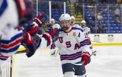Cole Caufield NTDP photo