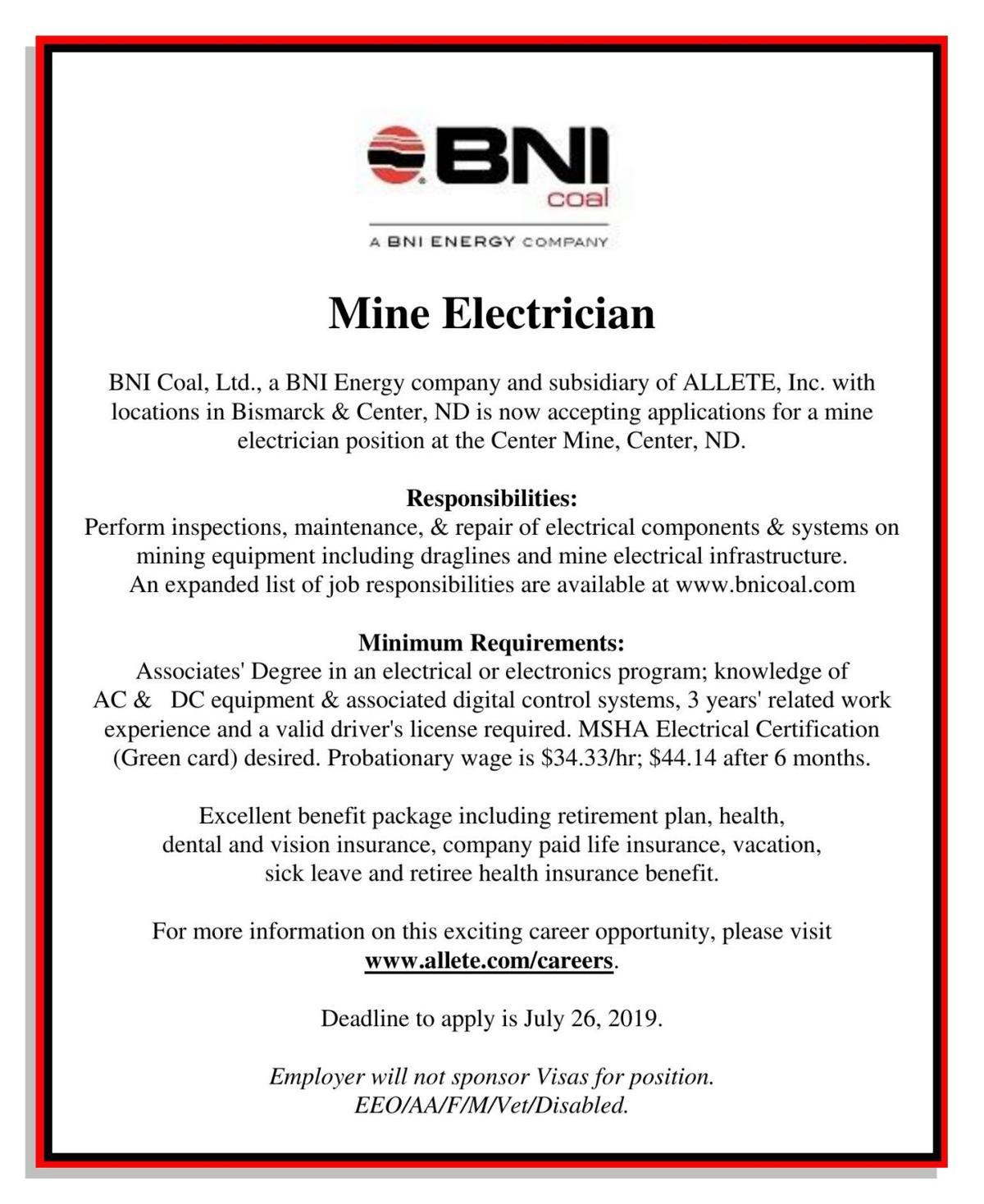 Mine Electrician