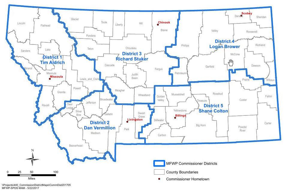 Commissioner map