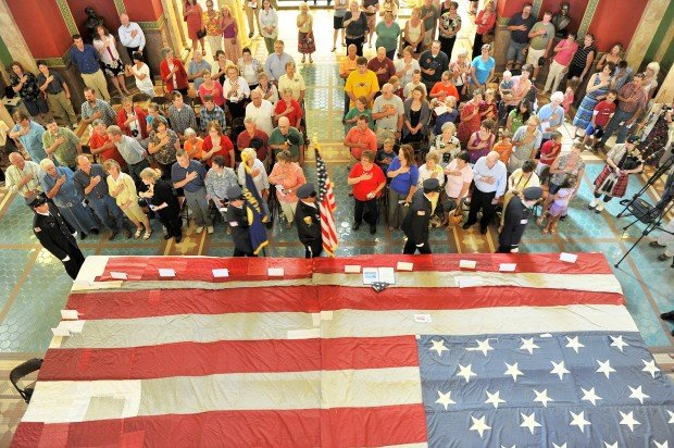 National 9/11 flag stops in Helena