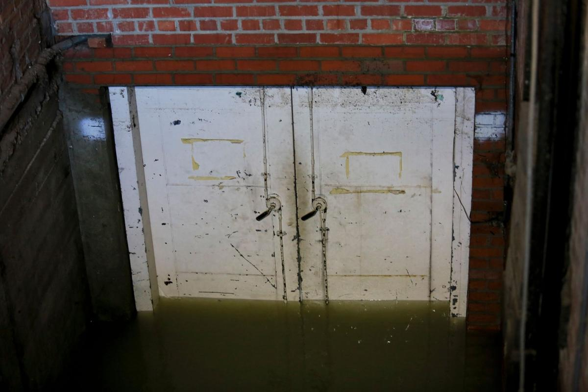 Flooded doorway