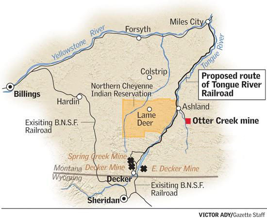 Ashland Montana Map.Federal Panel Kills Tongue River Railroad Montana News