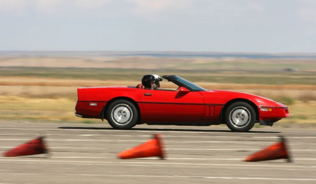 Steve Gruver races his C4 Corvette