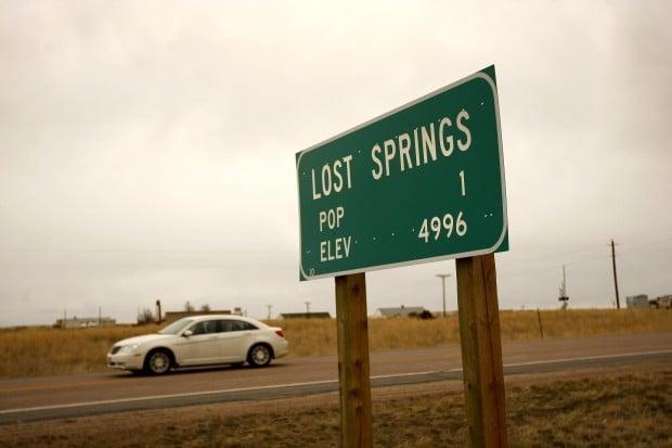 Lost Springs population 1