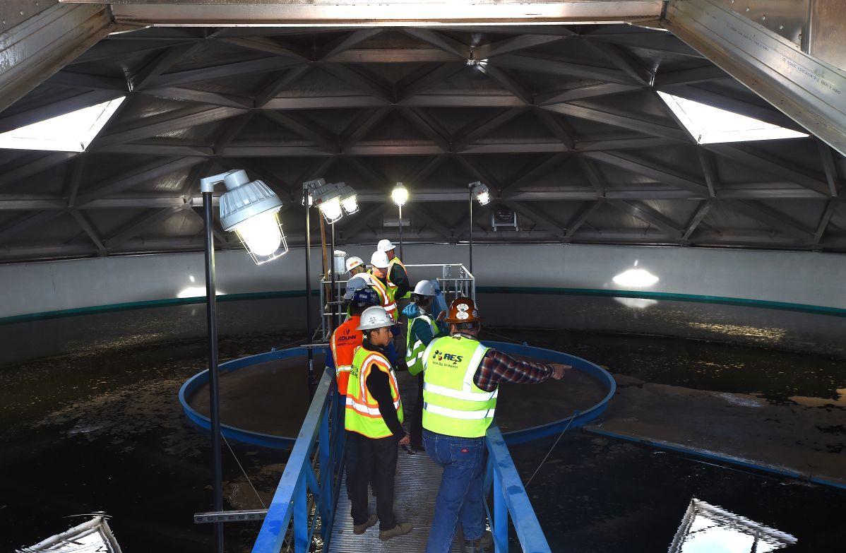 Williston sewer treatment plant tour
