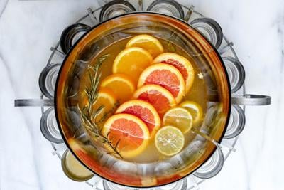 Toast the new year with this rosemary and citrus champagne punch