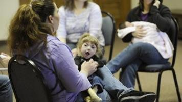 Gabby Williams At A Playgroup With Her Mother Heights