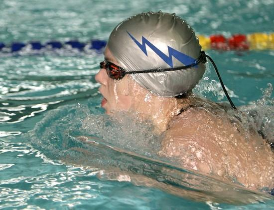 After a month off, swimmers get back in water