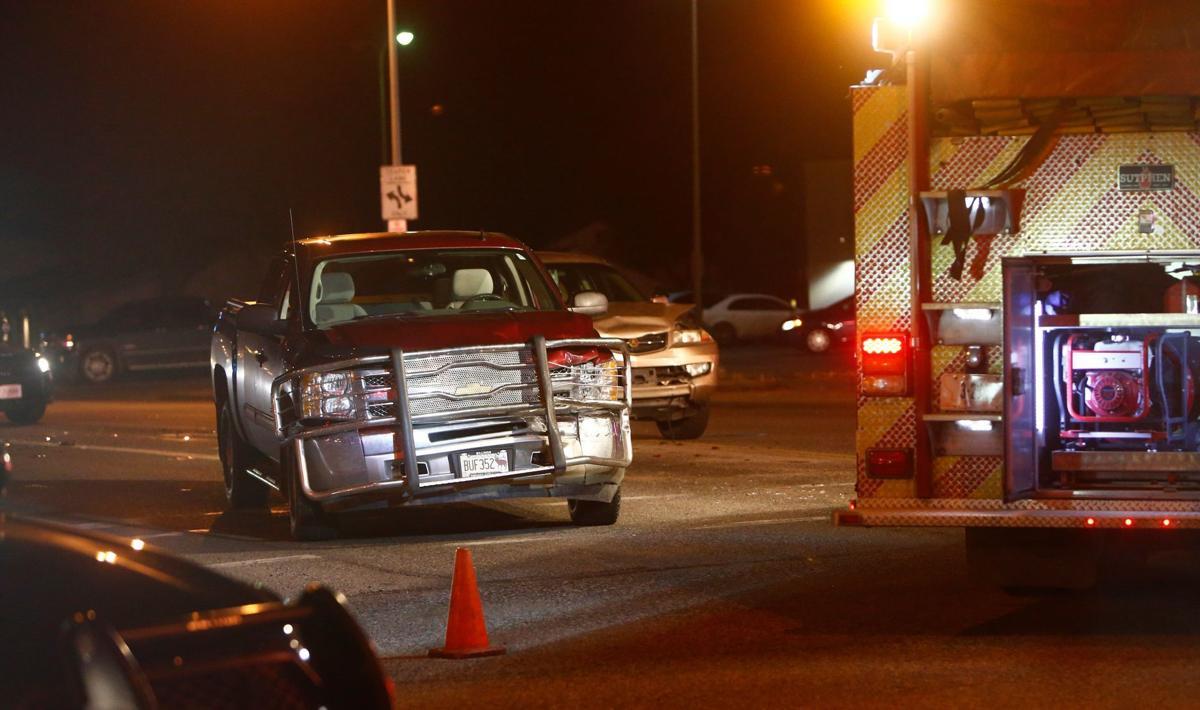 Four-vehicle crash