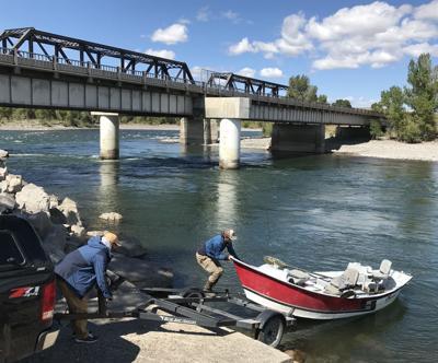 Highway 89 boat ramp work underway on Yellowstone River